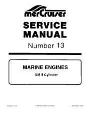 mercruiser gm4 service manual pdf download rh manualslib com Mercury 140 Inboard Engines 1978 Mercruiser Sterndrive 165