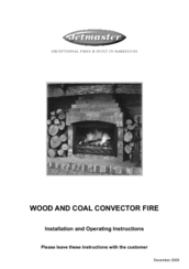 Jetmaster wood fire installation instructions.