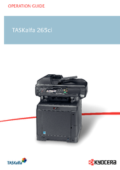 KYOCERA TASKALFA 265CI OPERATION MANUAL Pdf Download