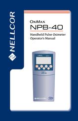 nellcor npb 40 operator s manual pdf download rh manualslib com Puritan Bennett CEU Respiratory Care Portable Pulse Ox Machine