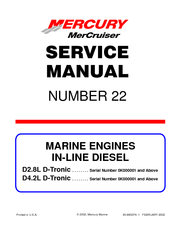 mercury d4 2l d tronic manuals rh manualslib com Mercury Outboards Manuals Mercruiser 5.0 MPI Engine