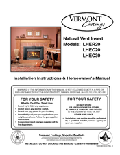 vermont castings insert studio lhec30 manuals vermont castings insert studio lhec30 installation instructions homeowner s manual