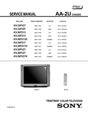 sony trinitron kv 36fs13 manuals rh manualslib com Sony TV Parts Manual Sony TV Schematics Service Manuals