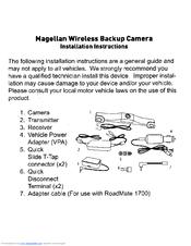 magellan wireless backup camera manuals. Black Bedroom Furniture Sets. Home Design Ideas