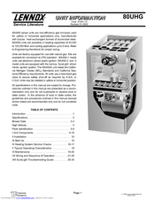 LENNOX 80UGH UNIT INFORMATION Pdf Download. on