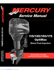 mercury optimax 175 manuals rh manualslib com mercury verado 150 owners manual Mercury Verado 150XL