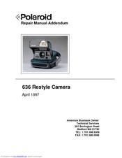 polaroid 636 restyle manuals rh manualslib com polaroid 250 repair manual polaroid 600se repair manual