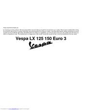 Vespa Lx 125 150 Euro 3 Manuals Manualslib