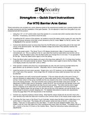 Hysecurity HTG 320-8 Manuals