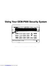 napco gem p800 user manual pdf download rh manualslib com napco p800 user manual Napco User Control Panel Manuals