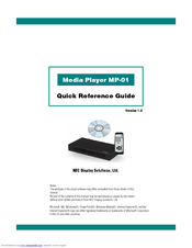 NEC MP-01 Quick Reference Manual