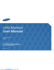 Samsung U32D970 User Manual