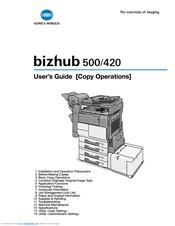 konica minolta bizhub 420 manuals rh manualslib com Konica Minolta Bizhub C364 konica minolta bizhub 420 user manual