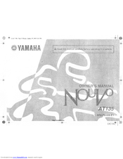 Yamaha Nouvo AT135 Owner's Manual