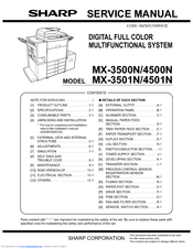 sharp mx 3501n color laser copier manuals rh manualslib com sharp copier parts manual sharp copieur mx-m453n manual