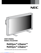 NEC MultiSync LCD4010 User Manual