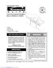 Kenmore 141.16689800 Use And Care Manual
