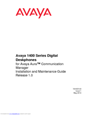 avaya ip office 1400 series manuals rh manualslib com Wordie Manual Cessna MAINTEANCE Manual