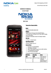 Nokia 5530 - XpressMusic Smartphone 70 MB Service Manual