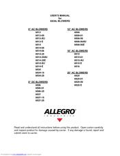 allegro industries 9516 manuals rh manualslib com allegro 16.6 user manual allegro abv441 user manual