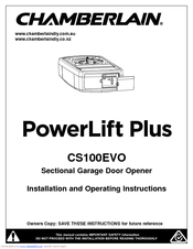 chamberlain cs100evo manuals