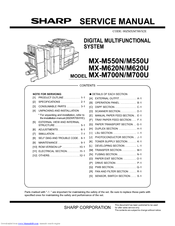 sharp mx m550u manuals rh manualslib com Sharp AR 168D Drum Assembly AR- M237 Copier