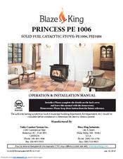 Blaze King Pe1006 Manuals