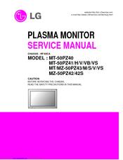 LG MZ-50PZ43 Service Manual