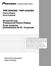 Pioneer PDP505CMX - HD Plasma Display Operating Instructions Manual