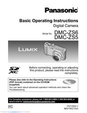 panasonic dmczs6 digital still camera manuals panasonic dmc-zs10 user manual panasonic dmc-zs10 user manual