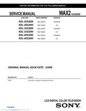 sony bravia kdl 32ex500 manual