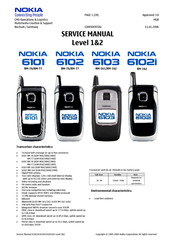 Nokia 6103 - Cell Phone 4.4 MB Service Manual