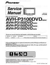 PIONEER AVH-P3100DVD/XN/UC SERVICE MANUAL Pdf Download | ManualsLibManualsLib