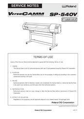 roland versacamm sp 540v manuals rh manualslib com roland versacamm vp 540 manual roland versacamm vs-540i manual