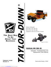 TAYLOR-DUNN RE-380-36 OPERATOR'S AND SERVICE MANUAL Pdf ... on