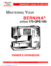 bernina artista 170 qpe 180 manuals rh manualslib com bernina artista 180 manual pdf bernina artista 170 service manual