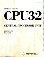 Motorola CPU32 Reference Manual