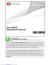 acer aspire m5640 manuals rh manualslib com Acer Motherboard Identification Acer HT2000 Motherboard Manual
