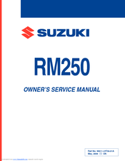 suzuki rm250 owner s service manual pdf download