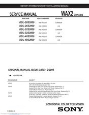 sony bravia kdl 40s2000 manuals rh manualslib com Sony TV Replacement Parts Sony KDL 40S2000 Problems