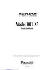 python 881 xp manuals rh manualslib com Vinyl Graphics Installation Guide Vinyl Graphics Installation Guide