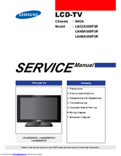 samsung ln46a550p3r manuals rh manualslib com Samsung Owner's Manual Samsung TV Repair Manual