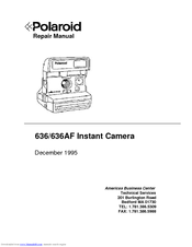 polaroid 636af manuals rh manualslib com polaroid 1000 repair manual polaroid sx-70 camera repair manual