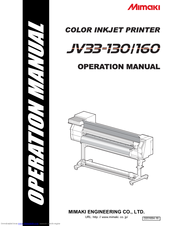 MIMAKI JV33-130 OPERATION MANUAL Pdf Download