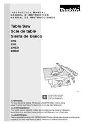 makita table saw 2705 manual
