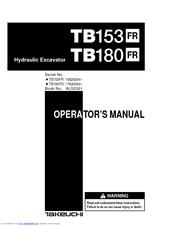 Takeuchi TB180FR Manuals