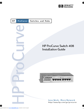 HP ProCurve 408 Installation Manual