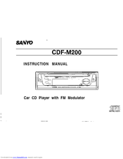 Sanyo CDF-M200 Instruction Manual