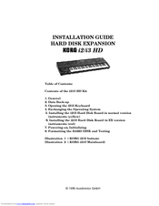 Korg i2 HD Installation Manual