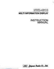 JRC NWZ-4610 Instruction Manual